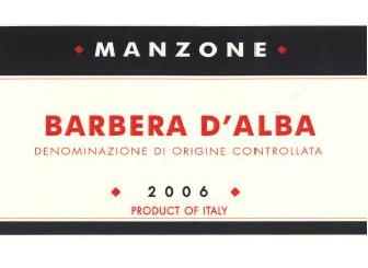 Barbera d Alba Manzone