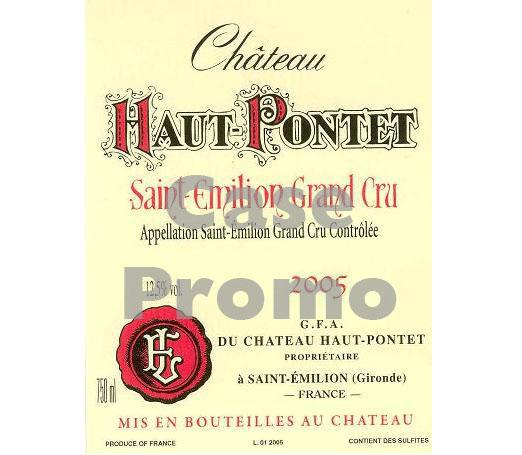 Chateau Haut Pontet (case promo)