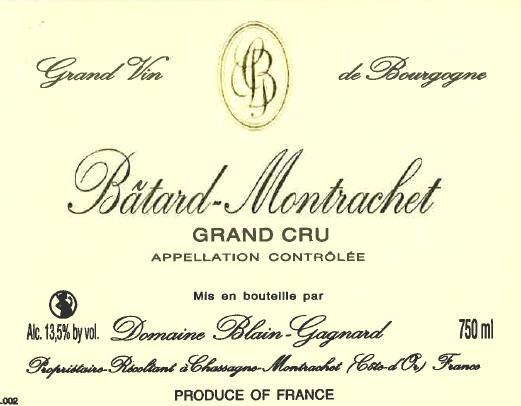 Batard Montrachet Grand Cru Domaine Blain Gagnard