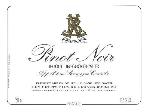 Bourgogne Pinot Noir Leonce Bocquet