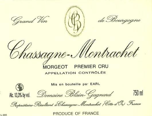 Chassagne Montrachet 1er Cru Morgeot Dom Blain Gagnard