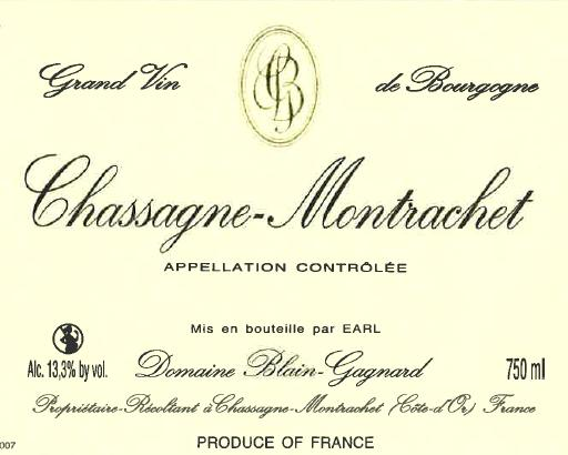 Chassagne Montrachet Domaine Blain Gagnard