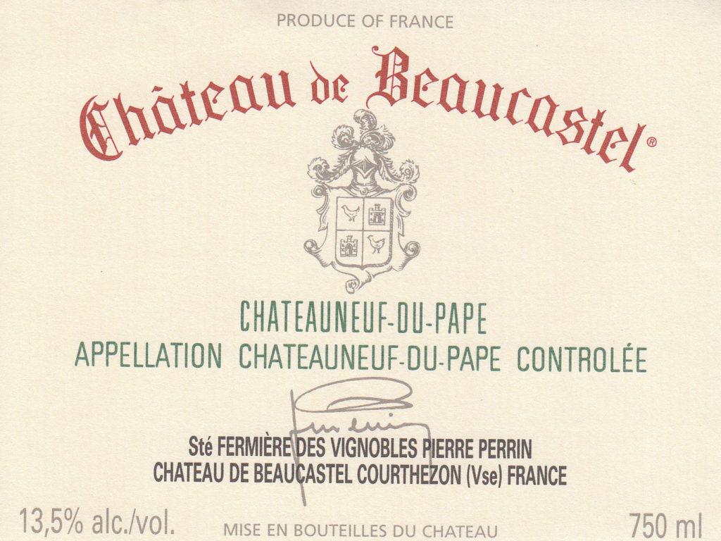 Chateauneuf du Pape Rouge Chateau de Beaucastel
