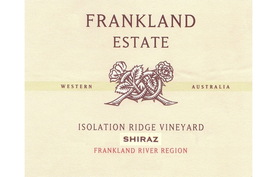 Isolation Ridge Shiraz Frankland Estate