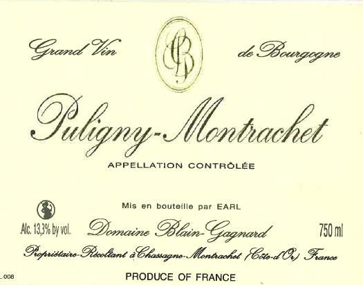 Puligny Montrachet Domaine Blain Gagnard